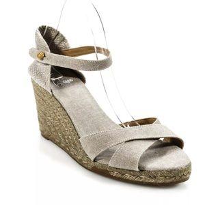 93a1e55beb2a Castaner Linen Natural Wedge Espadrille Sandal 9